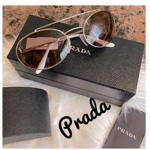 Prada 61mm oval sunglasses